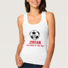 Personalized Soccer Ball with Team Name and Number Tank Top