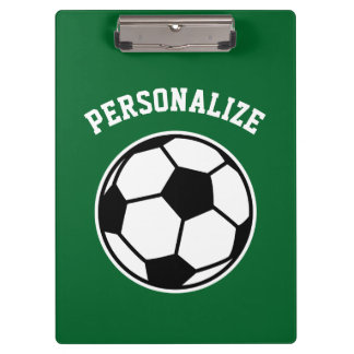 Personalized soccer coach sport accessories custom clipboards