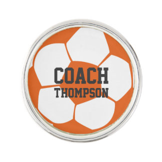 Personalized Soccer Coach Tack Lapel Pin