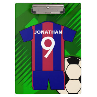 Personalized Soccer football Jersey Clipboards