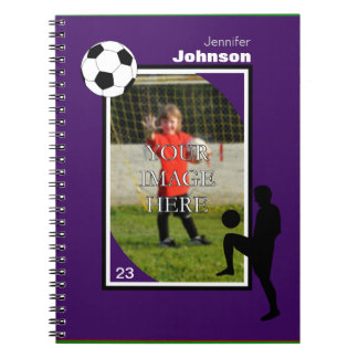 Personalized Soccer/Football Notepad Notebook