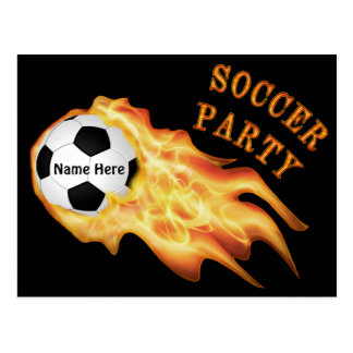 Personalized Soccer Invitations, YOUR TEXT, COLORS Postcard