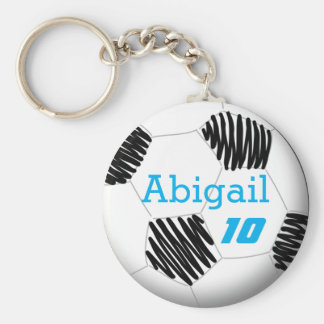 Personalized soccer key chain