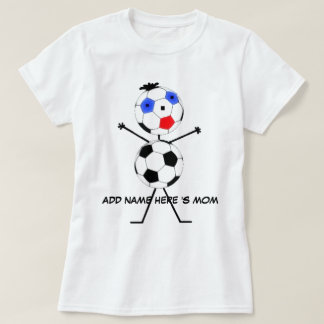 Personalized Soccer Mom Cartoon T-Shirt