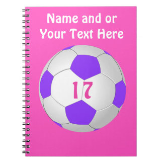 Personalized Soccer Notebook for Girls