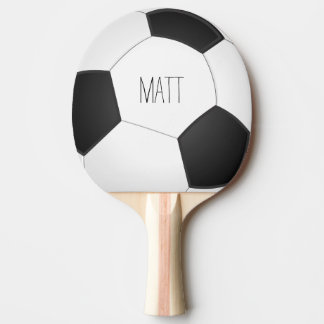 Personalized Soccer Ping Pong Paddle