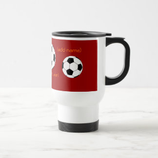 Personalized Soccer Travel Mug