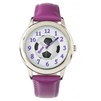 Personalized Soccer Watches for Girls with NAME