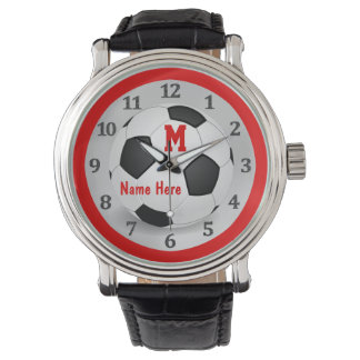 Personalized Soccer Watches with Name and Monogram
