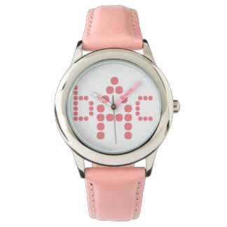 Personalized Soft Pink Monogrammed Watch