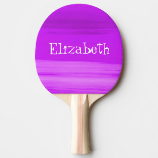 Personalized soft shades of deep purple stripes ping pong paddle