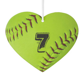 Personalized softball air freshener