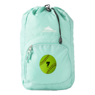 Personalized softball backpack