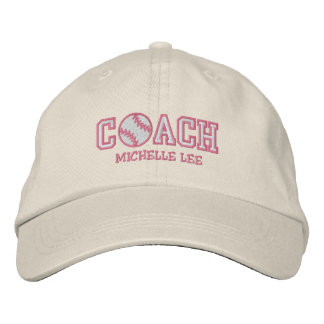 Personalized Softball Coach Baseball Cap
