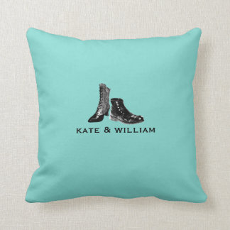 Personalized Soulmates Pillow Blue