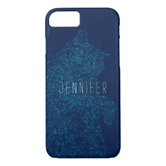 Personalized Space Cat iPhone 7 Case