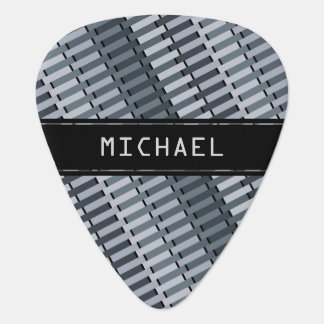 Personalized Space Gray Contemporary Art Pattern Guitar Pick