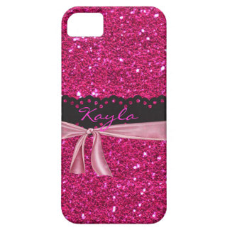 Personalized Sparkled PINK I phone 5 Case
