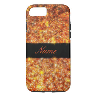 Personalized Sparkling Amber iPhone 7 Case