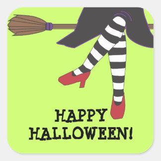 Personalized Spooky Witch Halloween Sticker