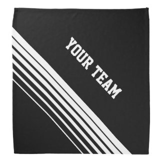 Personalized sports bandana with team name