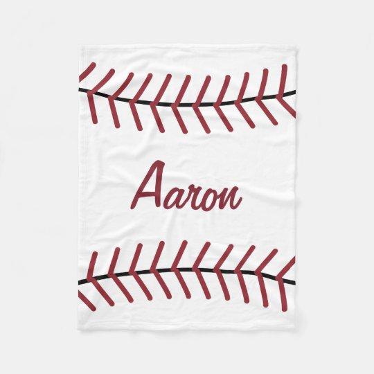 Personalized Sports Baseball Bedroom Blanket Gift