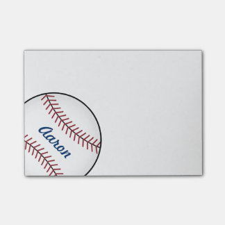 Personalized Sports Baseball Post It Notes Gift