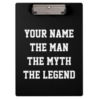 Personalized sports coach clipboard for men