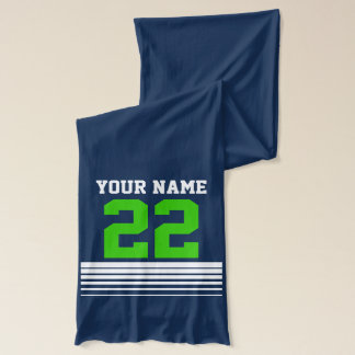 Personalized sports jersey number scarfs for men scarf