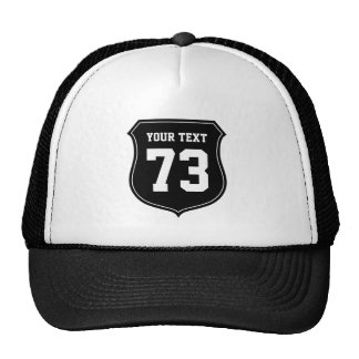 Personalized sports jersey number trucker hat