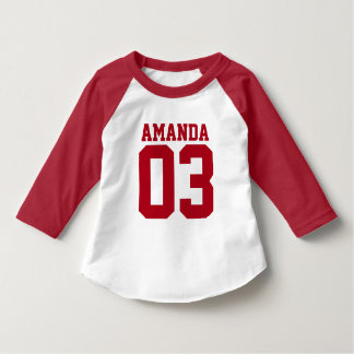 Personalized sporty age and name T-Shirt