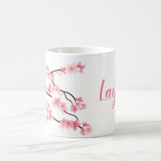 personalized spring flower mug