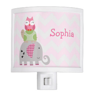 """Personalized """"Sprinkles Animals Stack"""" Night Light"""
