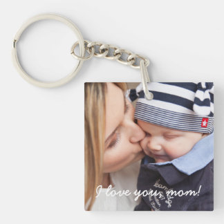 Personalized Square Key Chain Unique Gifts For Mom