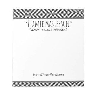 Personalized Squares and Squares Notepad