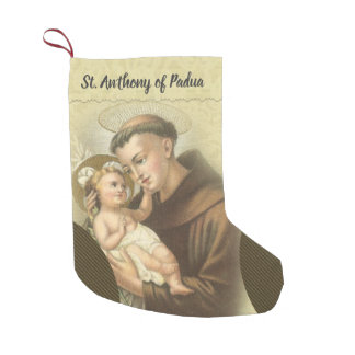 Personalized St. Anthony of Padua Prayer Small Christmas Stocking