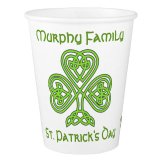 Personalized St. Patrick's Day Paper Cup