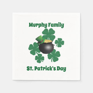 Personalized St. Patrick's Day Paper Napkins