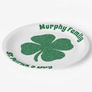 Personalized St. Patrick's Day Paper Plate
