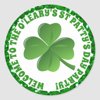 Personalized St Patricks Day Sticker