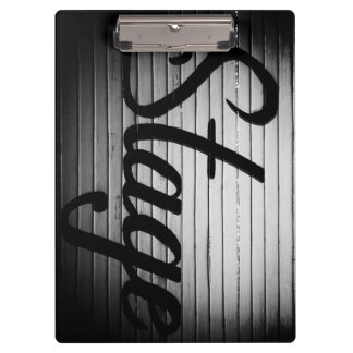 "Personalized ""Stage"" Vintage Sign Clipboard"