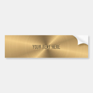 Personalized Stainless Steel Gold Metallic Radial Bumper Sticker