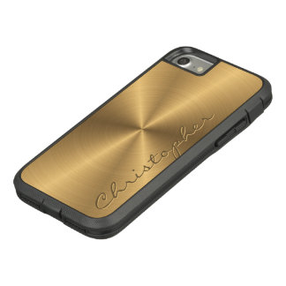 Personalized Stainless Steel Gold Metallic Radial Case-Mate Tough Extreme iPhone 8/7 Case