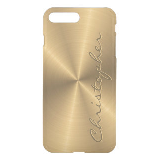 Personalized Stainless Steel Gold Metallic Radial iPhone 7 Plus Case