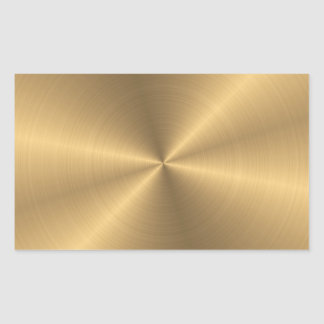 Personalized Stainless Steel Gold Metallic Radial Sticker