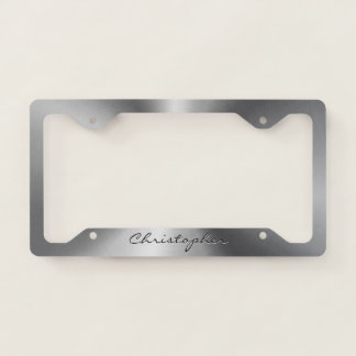Personalized Stainless Steel Metallic Radial License Plate Frame