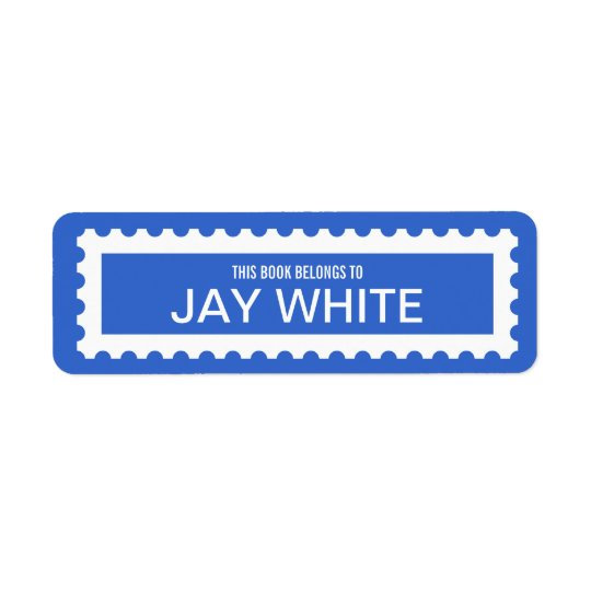 Personalized Stamp Edge Bookplate Label Return Address Label