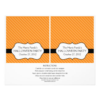 Personalized Standard Halloween Candy Bar Wrappers