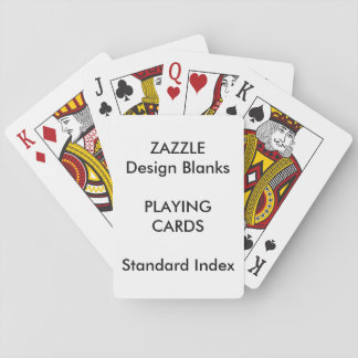 Personalized STANDARD INDEX Playing Cards Blank