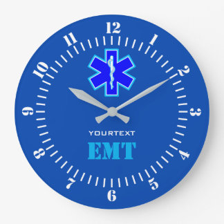 Personalized Star of Life Paramedic Services on a Large Clock